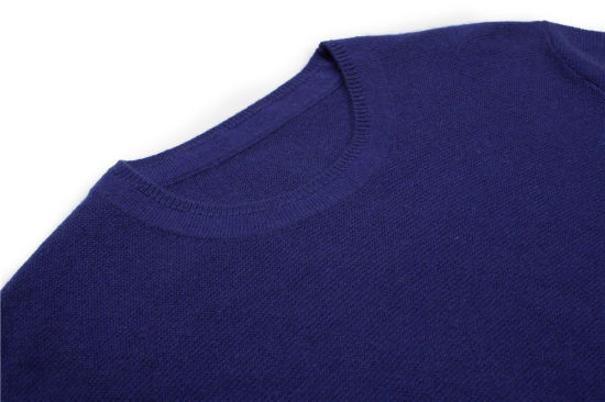 100%Cashmere Winter Round Neck Knitting Men Jumper Sweater pictures & photos