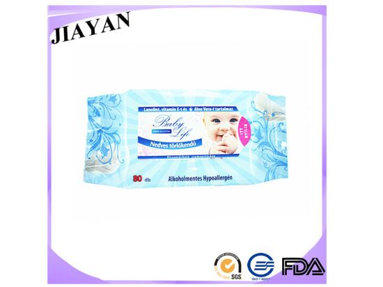 Fragrant Soft Alcohol Free Baby Wet Wipes Exellent Spunlace Non-Woven Wipes 80 PCS Pack