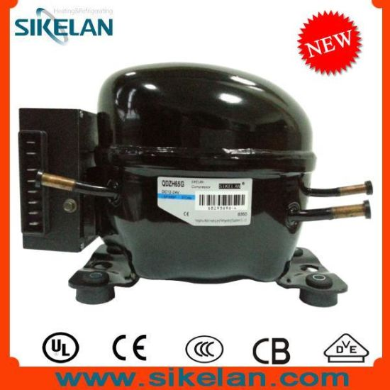 China Large Size Dc Fridge Compressor 12v 24v Dc Compressor Qdzh65g R134a Lbp Mbp China Dc Compressor Freezer Compressor