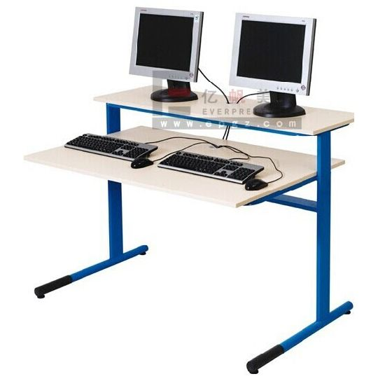 Wooden Computer Table for School Computer Laboratory Room pictures & photos