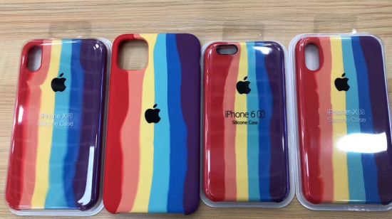 Silicone Rainbow Color Mobile Phone Houseing for iPhone High Quality Phone Case