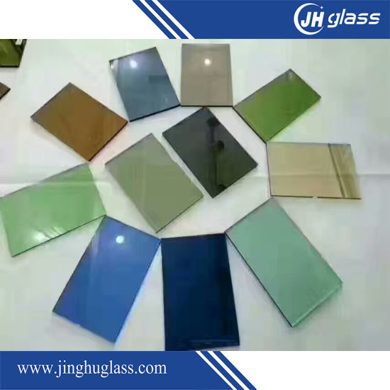 5mm Flat Dark Blue Reflective Glass Window Glass for Building pictures & photos