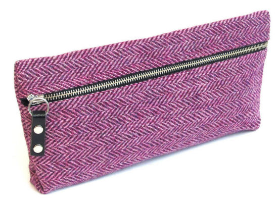 High Beautiful Tweed Pencil Case W/ Zipper pictures & photos