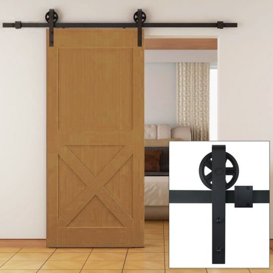 Elegant China Suppliers Carbon Steel Sliding Barn Door Hardware Zyc 04