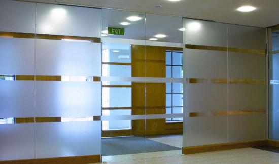 China Tempered Glass Toughened Glass Frameless Glass Sliding Door