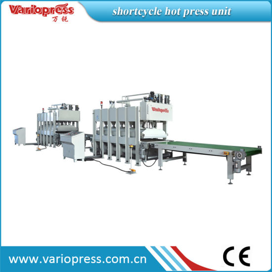Shortcycle Hot Press Machine for Veneer, Honeycomb pictures & photos