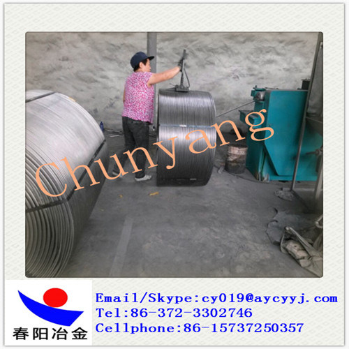 Stainless Steel Deoxidizer Cafe Cored Wire/Calcium Iron Cored Wire pictures & photos