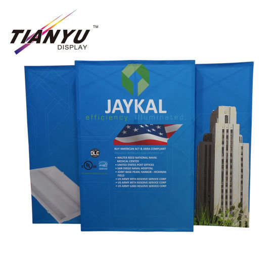 New Style Aluminum PVC Trade Show Fold up Advertising Floor Standing Pop up Stand