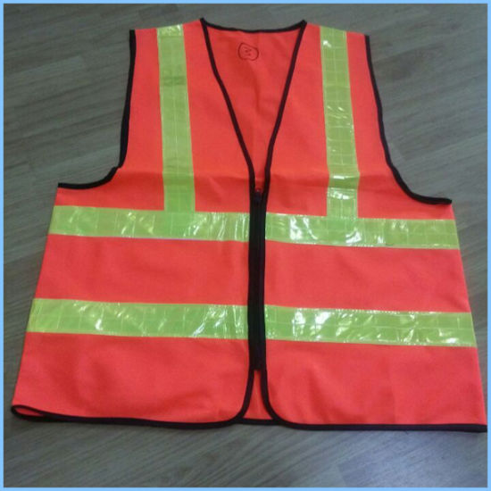 Manufacturer High Visibility Safety Vest with 2 Horizontal Tapes pictures & photos