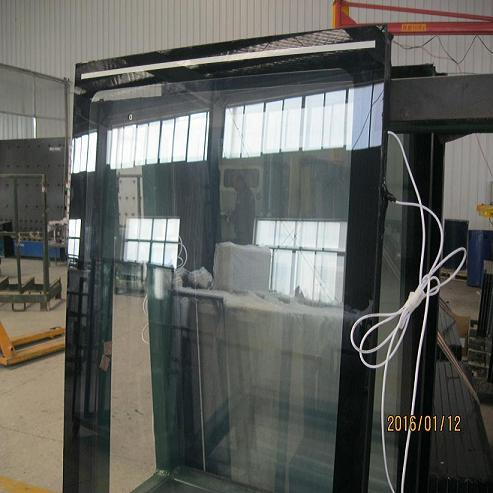China Produce Anti Frost Vacuum Glazed Glass Door For Wine Cooler