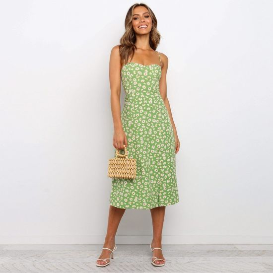 Summer Dress Sexy Strapless Printed Casual Dress Women Clothes