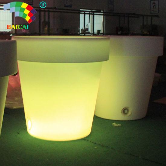 Waterproof Outdoor Glow LED Flower Pot