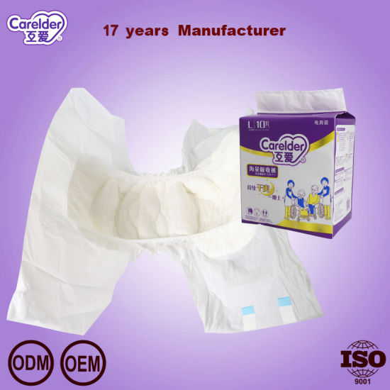 Hot Sale Wholesale Cheap Price OEM Ultra Thick Unisex Tape Type PP Tape PE Film Disposable Printed Adult Diaper