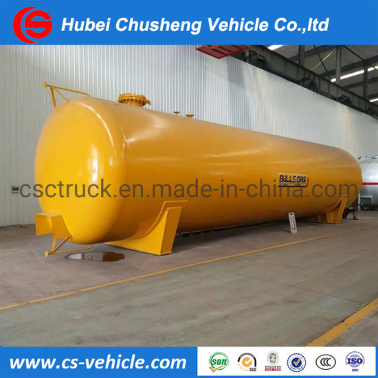 80000 Liters LPG Gas Tank 40mt LPG Storage Tank 50cbm Propane Tanker 60000L Pressure Vessel