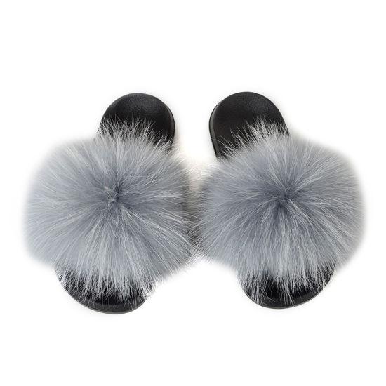 Designer Slide Sandal Fur Fluffy