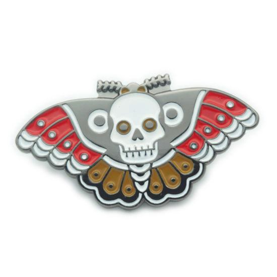 Free Sample No MOQ Wholesale Cartoon Butterfly Metal Soft Enamel Custom Logo Badges (FTBG2104)