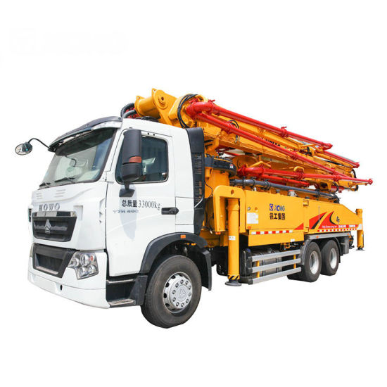 52m 130m3/H Mounted Concrete Boom Pump Truck for Sale
