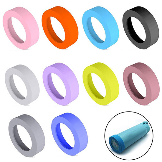 Non-Slip Wear-Resistant Silicone Cup Bumpers Bottom Sleeve for Water Bottle