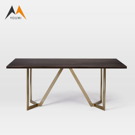 Metal Black Wood Outdoor Dining Table, Outdoor Trestle Table