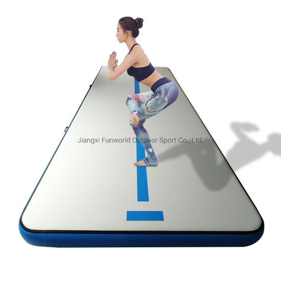 Inflatable Tumble Track Kids Air Mat for Gymnastics Gym Play Air Gym Mat
