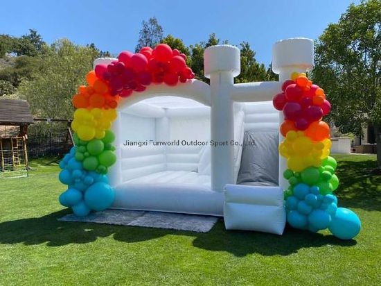 Popular Bouncer Inflatable Wedding Bouncy Castle White Bounce House