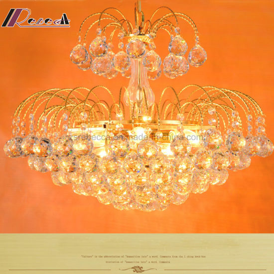 Gold Crystal Lamp Luxury Simple Creative Modern LED Lighting pictures & photos