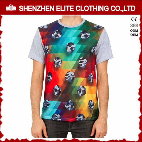 616c32e3a Latest Hot Sale Mens Digital Printed Custom Heat Transfer T Shirt  (ELTMTJ-134)