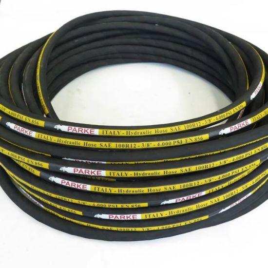 SAE 100 R12 3/8'' Steel Wire Spiral Hydraulic Rubber Hose