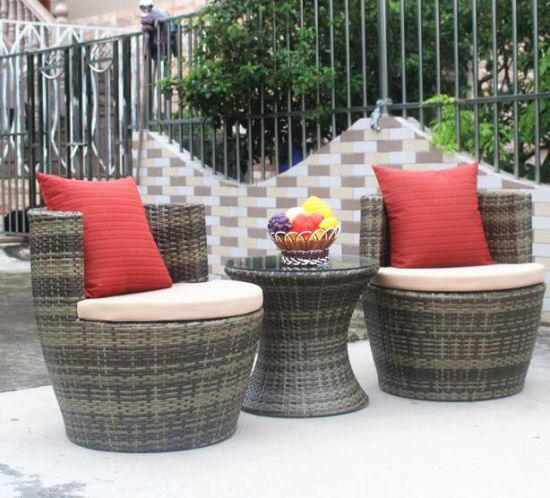 Awe Inspiring China 3 Pieces Pe Rattan Swivel Chair Table Sets With Cjindustries Chair Design For Home Cjindustriesco