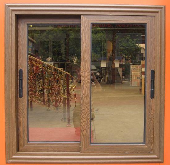 China Living Room Tempered Glass Aluminium Sliding Windows