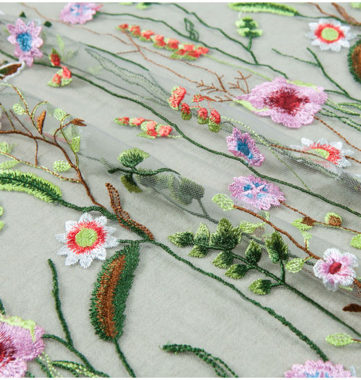 colorful embroidery Fatastic Lace pictures & photos