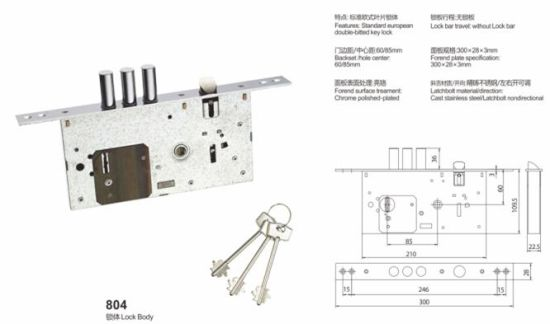 Iron/Zinc Safe Door Lockbody/Security Door Lock (804) pictures & photos