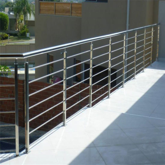 China Ss304 Solid Rod Stainless Steel Railing Design For
