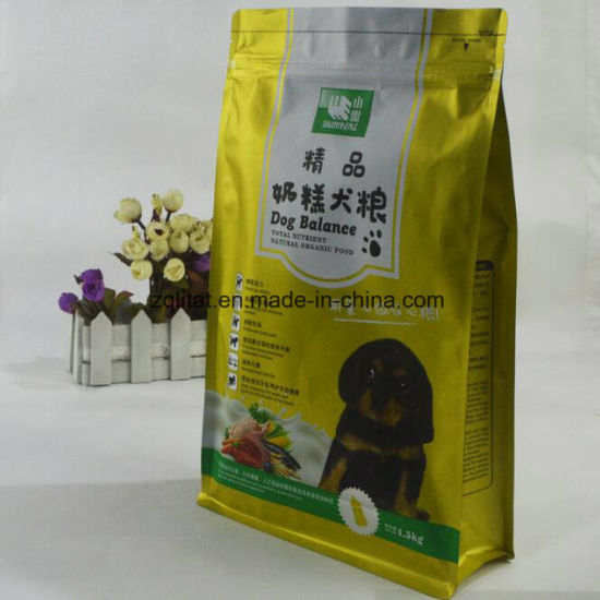 Dog Food Plastic Packaging Bag with Zipper pictures & photos