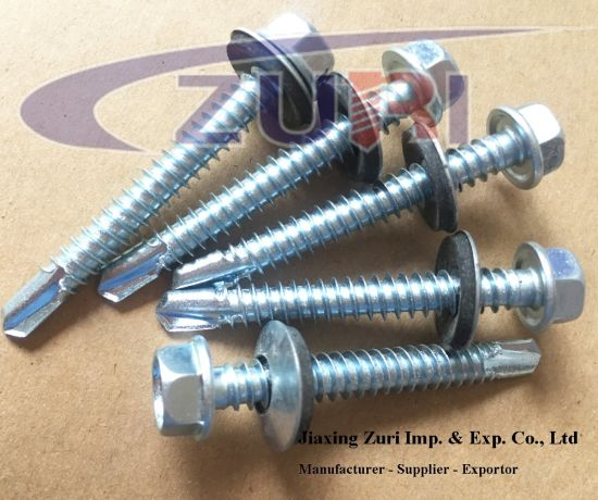 "Self Drilling Roofing Screw with EPDM Washer #12*5"" pictures & photos"