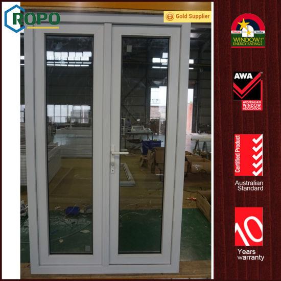 China Vinyl Pvc Hurricane Impact Front Entry Glass Casement Doors