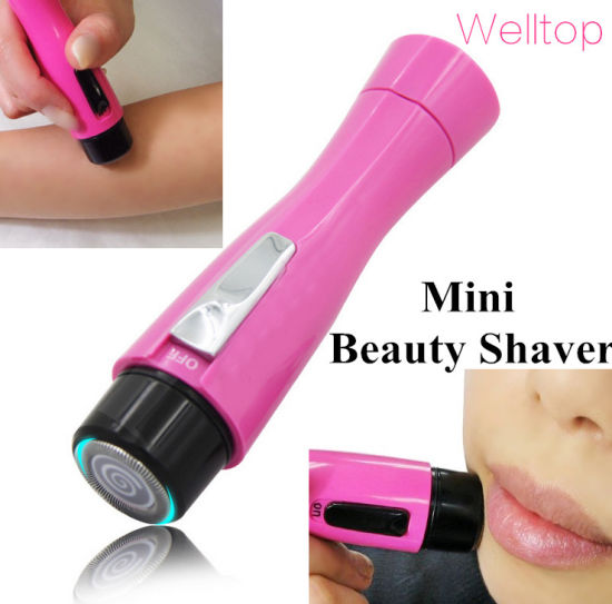 Lady Epilator Washable Cordless Wet & Dry Lady Shaver Body Hair Remover Trimmer Bikini Line Good for Women pictures & photos
