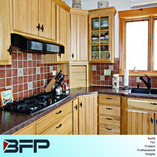 Factory Price Custom Made Soild Wood Kitchen Cabinets