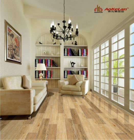 China Matt Rustic Wooden Design Floor Tile For Living Room 15671
