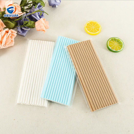 Factory Supply Biodegradable Disposable White Kraft Paper Drinking Straw pictures & photos