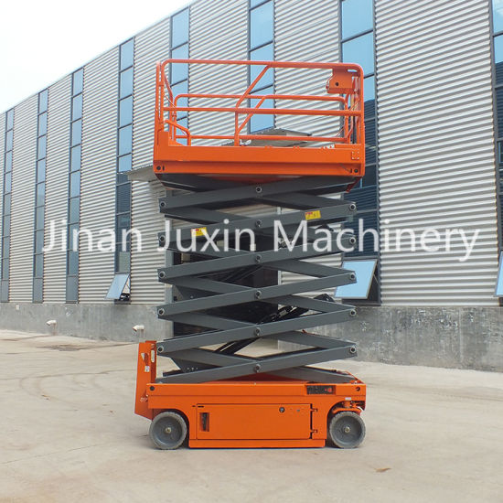 Hot Sales 12m Hydraulic Mobile Self Propelled Scissor Lift