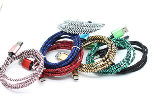 Colorful Hemp Knitting Charger&Transfer Type-C Cable pictures & photos