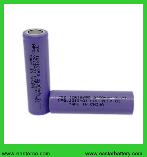 Rechargeable 18650 3.7V 2200mAh Li Ion Battery with Ce Certificated pictures & photos