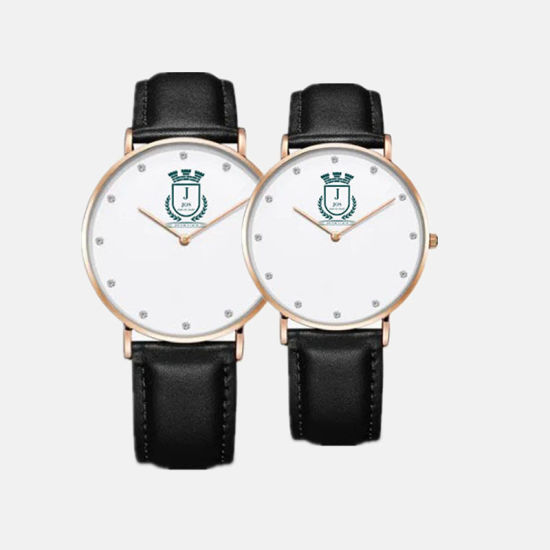 2018 Fashion Business Leather Watches Women Men Waterproof Lovers Geneva Quartz Wristwatch Couples Watches with Gift Box #V307