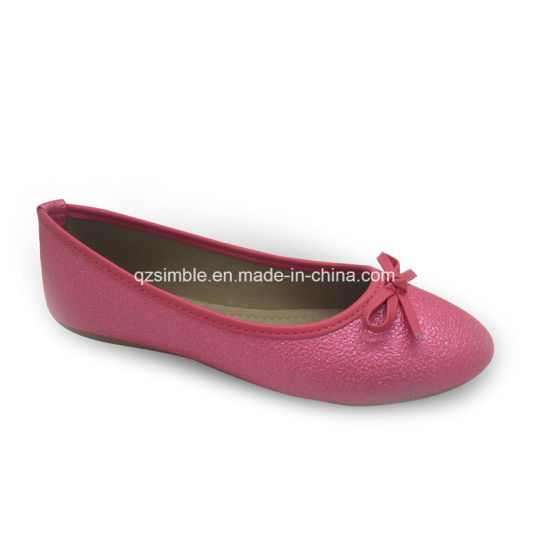 Girls Fashion Ballerina Shoes with Bowknot in Upper