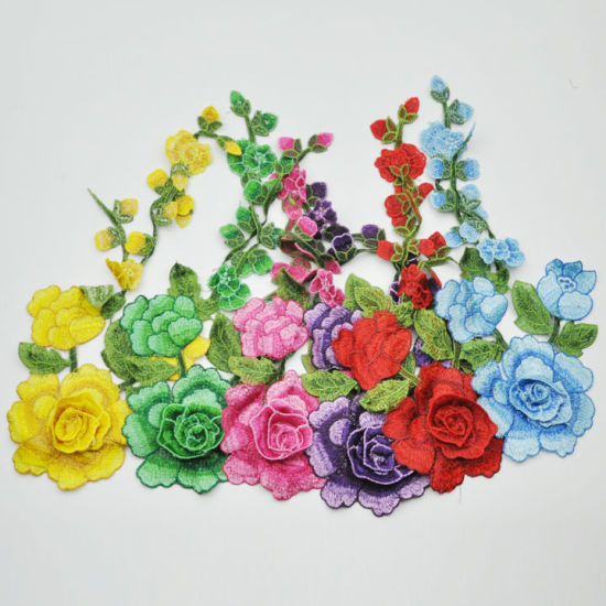 High Quality New Flower Design Embroidery Patch Wholesale for Women Garment