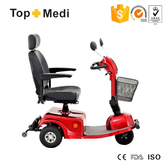 Topmedi Streamlined Three Wheel Disabled Electric Power Mobility Scooter
