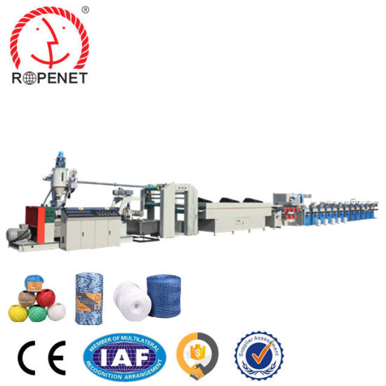 Single Screw PP Split Film Material Agricultural Greenhouse Baler Twine Making Machine for Sale