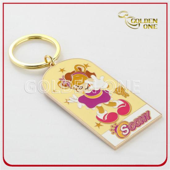 Custom Colorful Hard Enamel Souvenir Gift Metal Key Ring
