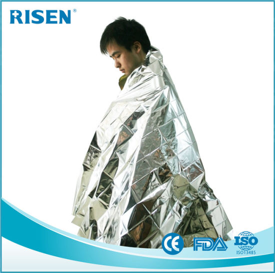 Emergency Warming Rescue Space Mylar Foil Blanket for Survival pictures & photos